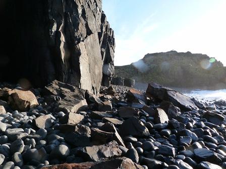 Soem of the big rock fall at Pilgrims Haven.
