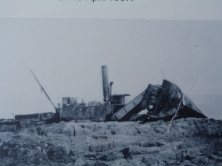 The Mars ship wreck on the north point of the island