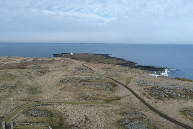 Quiet as a mouse: looking north across the island