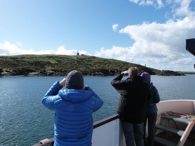 Visitors enjoying views of the Mighty May
