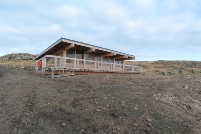 The new Isle of May visitor centre back in early March