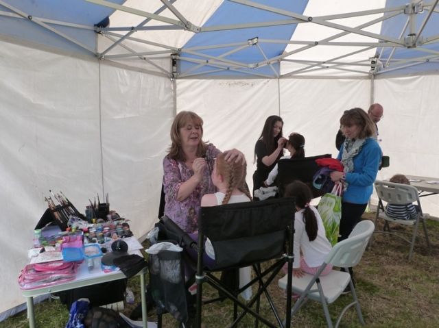 Face painting was very popular...