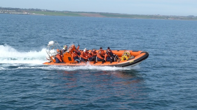 Osprey Rib passengers enjoying their visit to the island