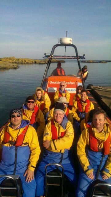 Passengers of the Seabird visit from North Berwick