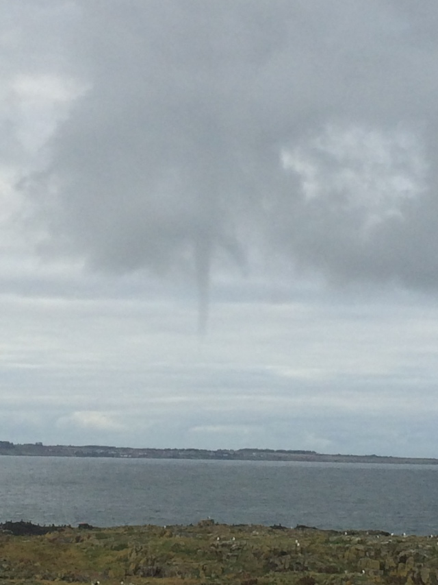 Funnel cloud over the Fife coast today