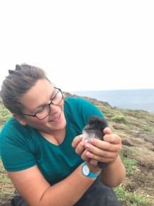Sally monitoring Pufflins